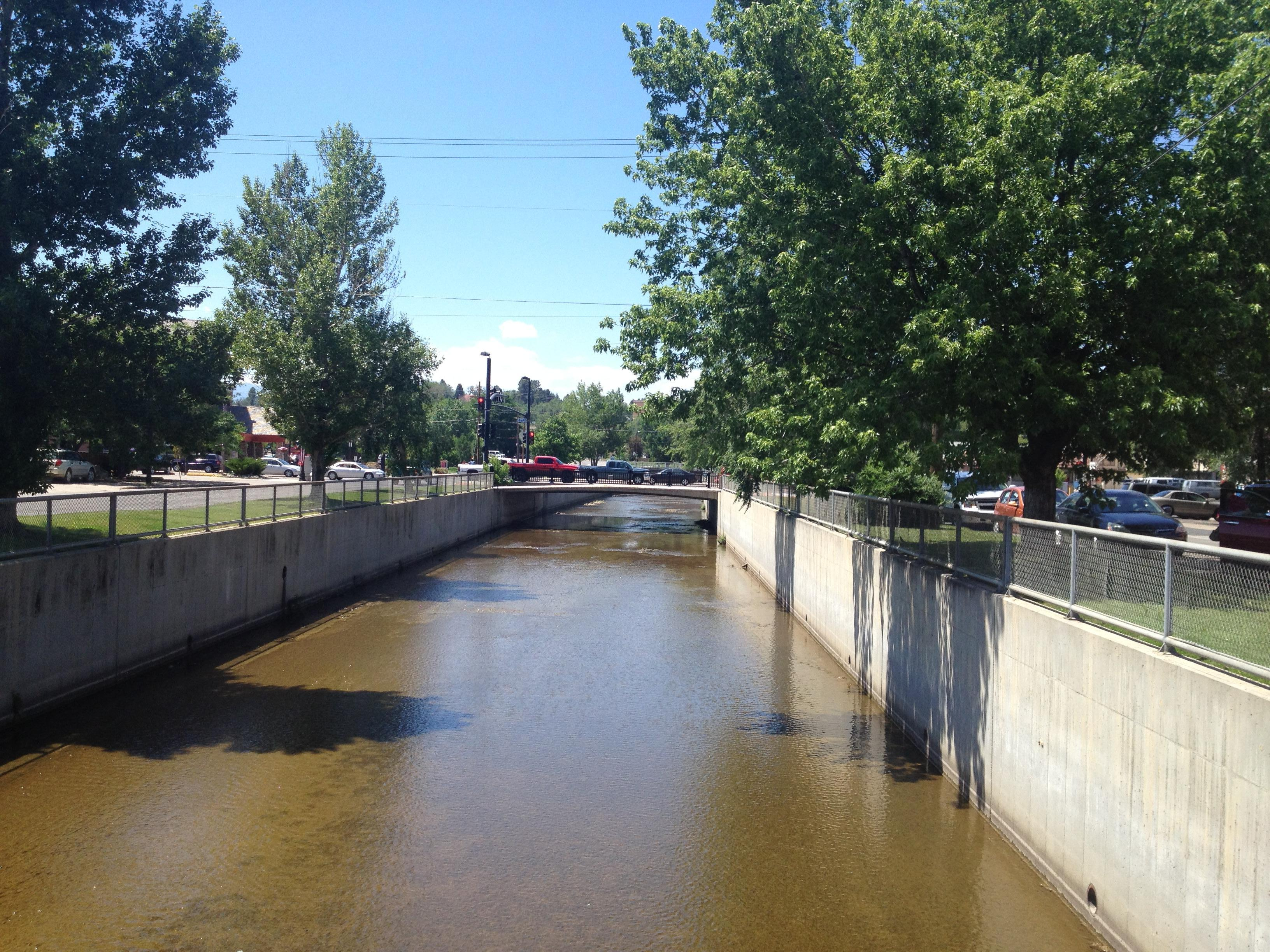 Little Goose Creek, looking west from Gould Street.
