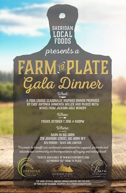 Farm to Plate Gala Dinner @ Barn in Big Horn | Sheridan | Wyoming | United States