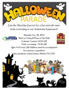 Sheridan Jaycees Halloween Parade @ Downtown Sheridan