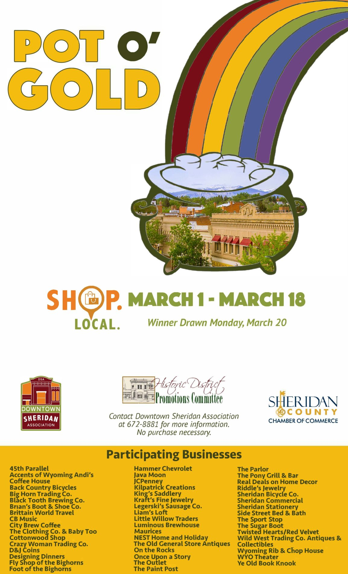 Pot O Gold – Shop Local Campaign