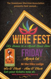 19th Annual Wine Festival @ Sheridan Elks Lodge