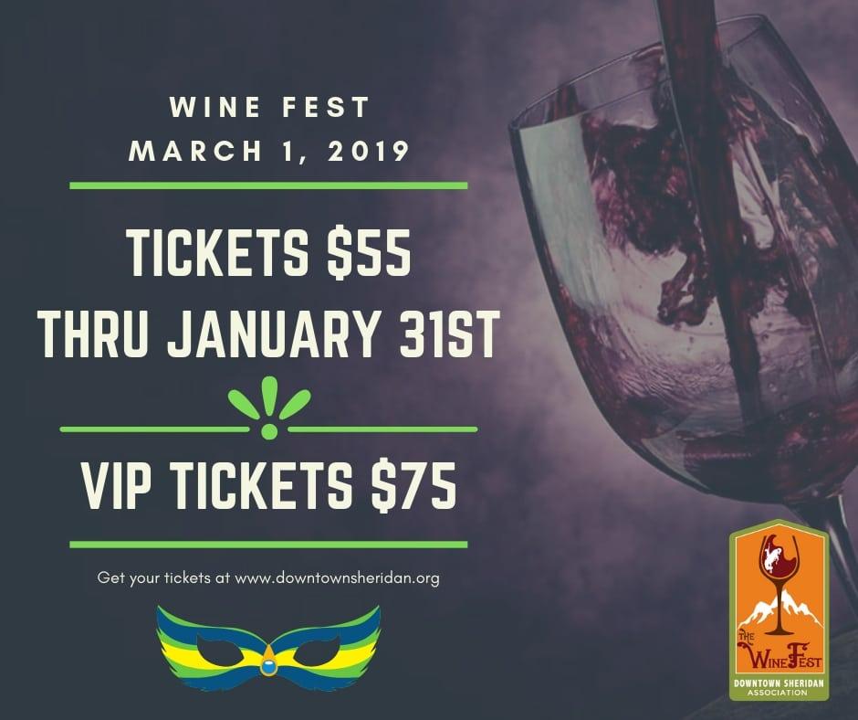 NEW Wine Fest Ticket Prices