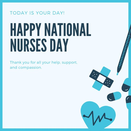 "Devoted to Home says ""Happy National Nurse Day!"""